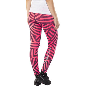 Salming Flow Tights Dam coral/all over print